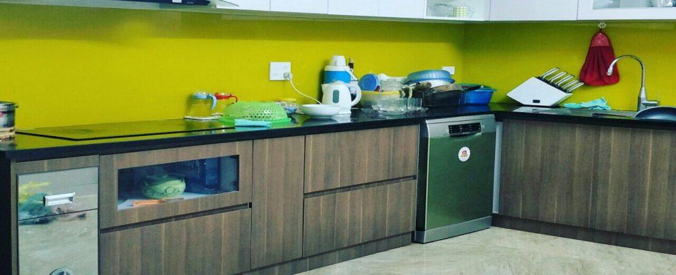 kính cường lực màu ốp bếp tại vinh nghệ an